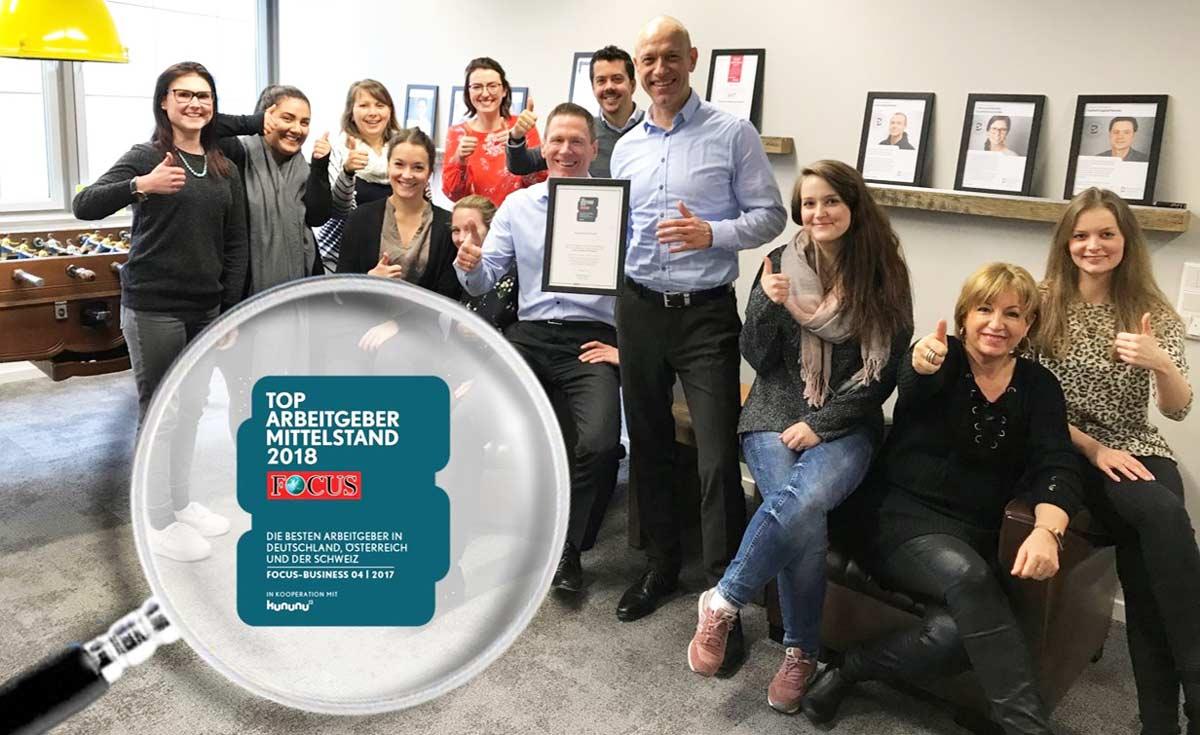 BleckmannSchulze aus Köln wurde von Focus zum Top-Arbeitgeber im Mittelstand gewählt