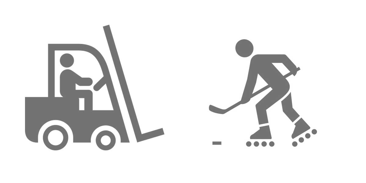 tagsüber Staplerfahrer bei BleckmannSchulze, abends Inlinehockey